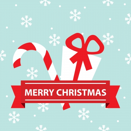 Merry Christmas card illustration Stock Vector - 19695664