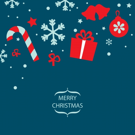 Merry Christmas card illustration Stock Vector - 19695662