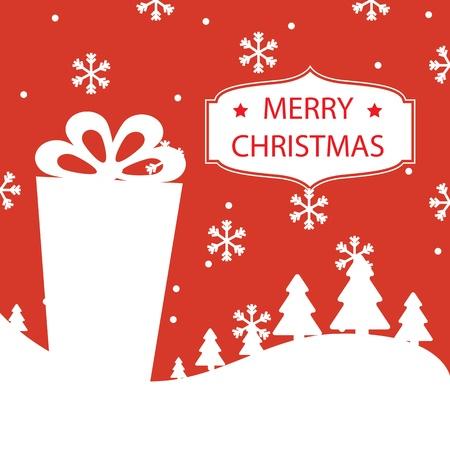 Merry Christmas card illustration Stock Vector - 19695649