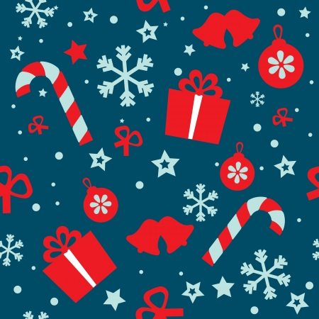 Seamless pattern Christmas illustration Vector