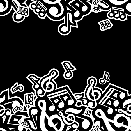ring tones: illustration of musical notes