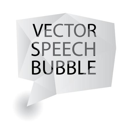 vector speech bubble origami Vector