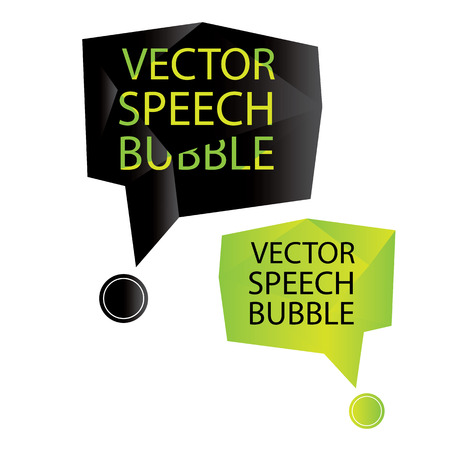 vector speech bubble origami Vector