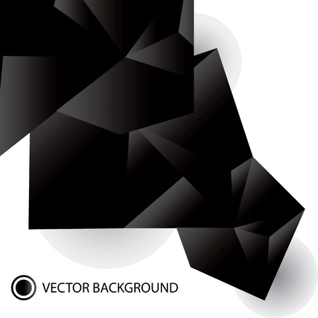 abstract black and white origami Vector