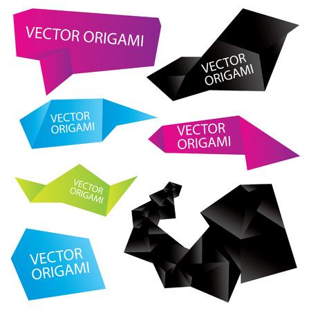 Set of vector origami Vector