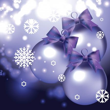 vector kaart met kerstballen Stock Illustratie