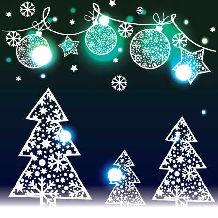 Christmas background with decorative elements Vector
