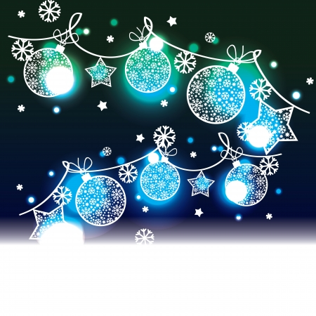 new year s:  Christmas background with decorative elements
