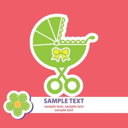 vector banner with a buggy Stock Vector - 23052086