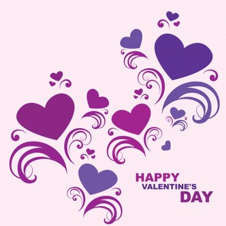 色カード幸せなバレンタインの s 日をベクトルします。