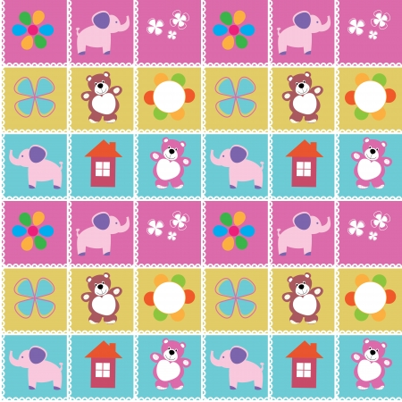 toy house: Seamless pattern toys