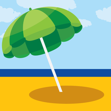 vector illustration parasol