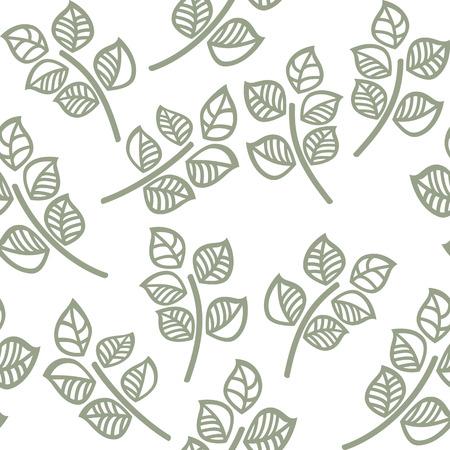 vector seamless di foglie verdi