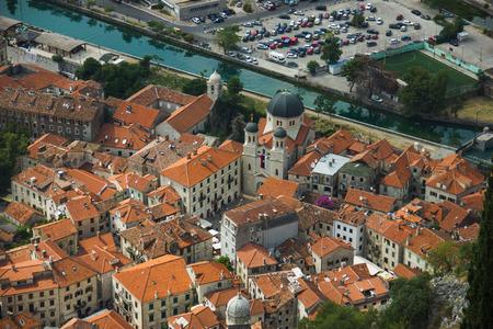 Montenegro, Kotor old town and Boka Kotor Bay photo