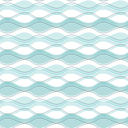 vibrations: vector abstract seamless pattern blue wave Illustration
