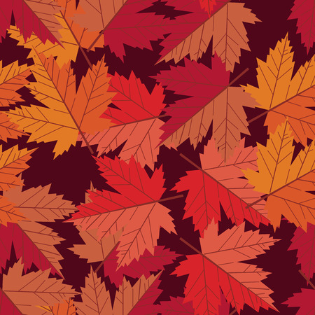 vector seamless pattern maple leaf Vector