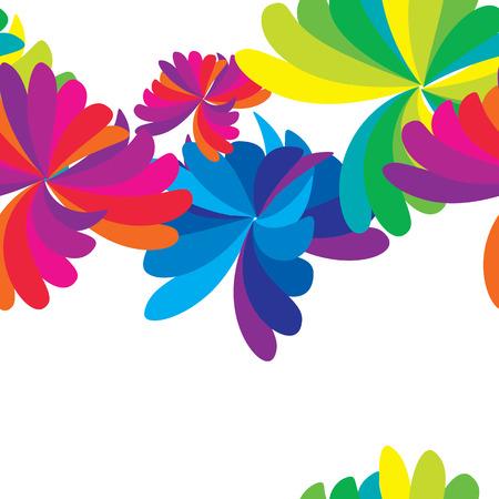 Vector sin patrón abstracto colorido