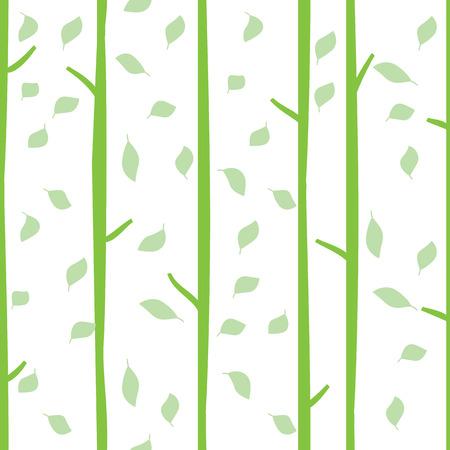 arbres silhouette: vecteur seamless pattern avec des feuilles vertes Illustration