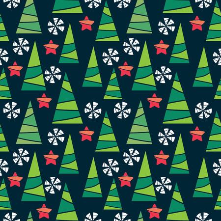 christmas seamless pattern: Seamless vector Christmas pattern