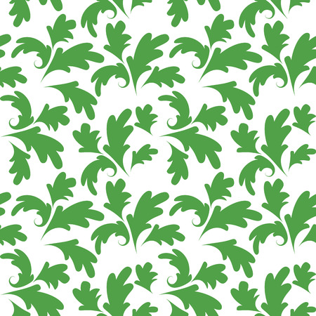 seamless floral: Green vector seamless floral ornament pattern Illustration