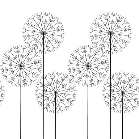 vector naadloze abstracte patroon paardebloemen