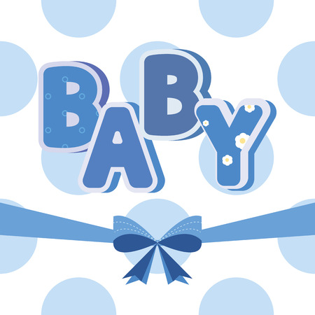 baby blue: Vector baby banner blue