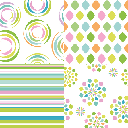 Set of abstract vectorial seamless patterns Illustration