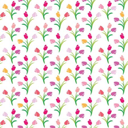 vector illustration seamless pattern tulips Vektorové ilustrace