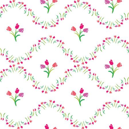 vector illustration seamless pattern tulips 向量圖像