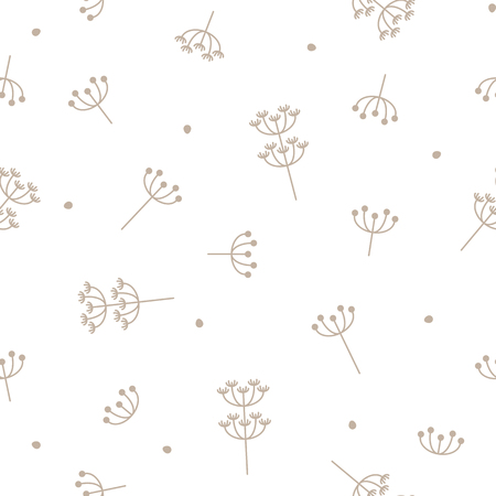 vector seamless repeating illustration pattern dandelions