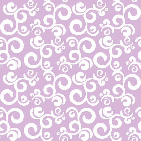vector seamless pattern curls elements, white and lilac colors