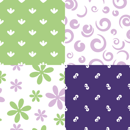 set of different vector patterns