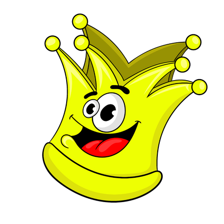 cartoon Golden crown, vector illustration