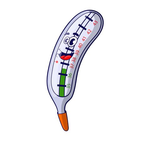 Cartoon thermometer, vector illustration. 向量圖像