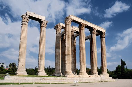 The Temple of Olympian Zeus, Olympieion, is a temple in Athens.  photo