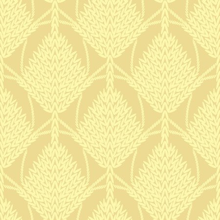 predominant: Beautiful pattern resembling openwork knitting   In color are predominant light-yellow hues on a little more dark background  This pattern can be extended infinitely in all directions