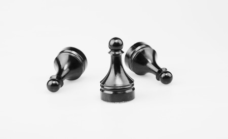 foresight: The Chess three pawns black.