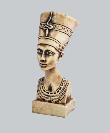 queen nefertiti: Bust of the queen of Egypt Nefertiti in the imperial clothes, looking in a distance.