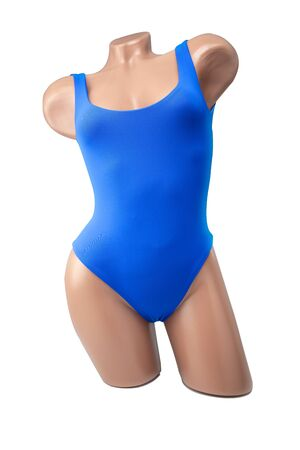 Female body mannequin, swimsuit fashionable for relaxing by the sea swimming pool while traveling.