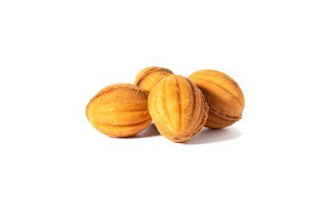 Shortbread sweet cookies with condensed milk filling. Zdjęcie Seryjne - 130954601