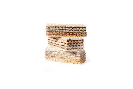 Sweet waffle cookie cake. Zdjęcie Seryjne - 130954608