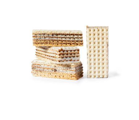 Sweet waffle cookie cake. Zdjęcie Seryjne - 130954611