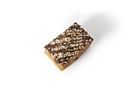 Sweet cookie cake  with vanilla cream and shkoladom Zdjęcie Seryjne - 130954583