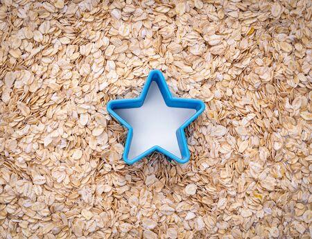 Natural oatmeal flakes, healthy food ingredients with vitamins Zdjęcie Seryjne