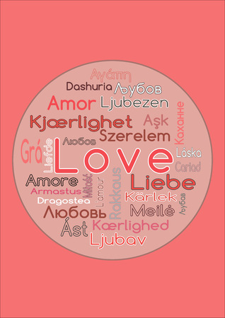 The Word Love In Different Languages Vector