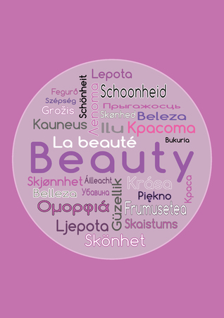 The Word Beauty In Different Languages Royalty Free Cliparts Vectors And Stock Illustration Image 53166100