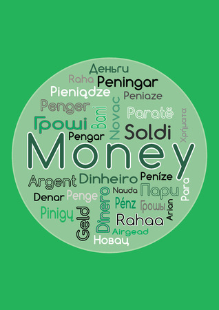 The Word Money In Different Languages Vector