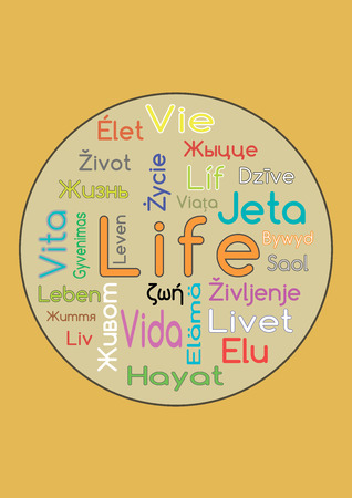 The Word Life In Different Languages Vector
