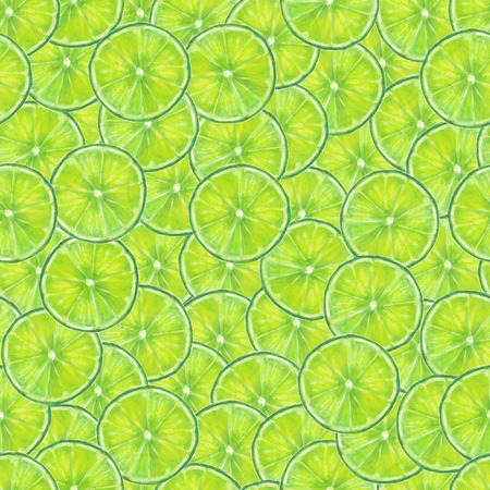 Watercolor seamless lime pattern