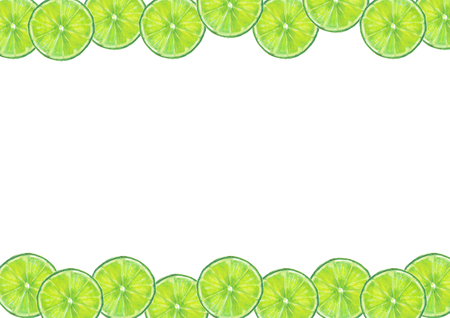 Lime fruits frame